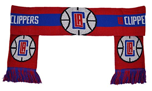 [Fan Shop Authentic NBA Logo Reversible Team Scarf. Show Team Pride Everywhere you go in Style. Rather at Home, Work or at the Game these Scarves will be well received. (Los Angeles Clippers)] (Los Angeles Clippers Acrylic)