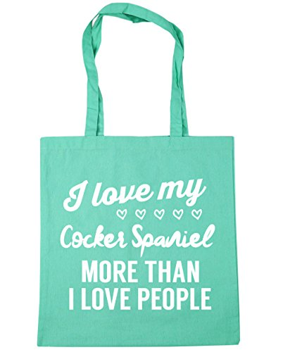 I love litres Shopping more Bag Gym spaniel HippoWarehouse x38cm Beach Tote 42cm my I cocker Mint 10 people than love dBwpq5