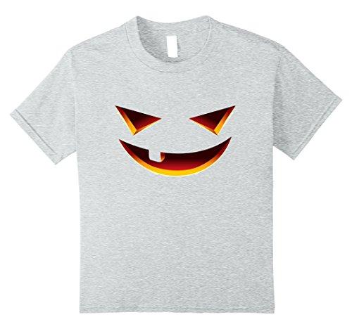 Kids Halloween Smiling Face - Creative Costume Idea Shirt 10 Heather Grey