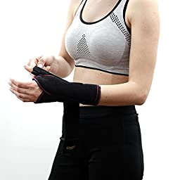 Soles Wrist Splint (Left Hand) – Fitted Support Brace for Carpal Tunnel, Tendonitis or Injury Recovery – Thumb Protection – Adjustable, Comfortable Design – One Size Fits All