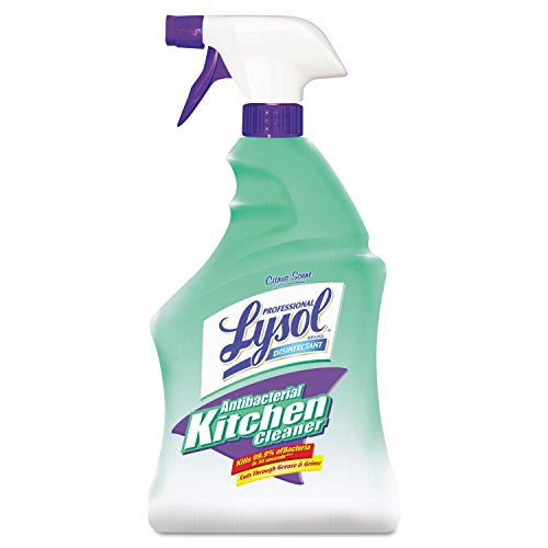 Professional LYSOL Brand 74411EA Antibacterial Kitchen Cleaner, 32oz Spray Bottle