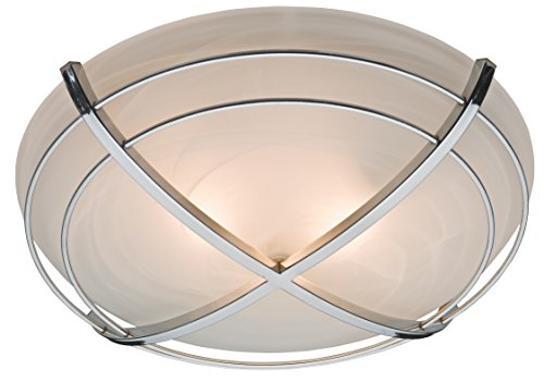 Bathroom Exhaust Fan and Light in Contemporary Cast Chrome ()