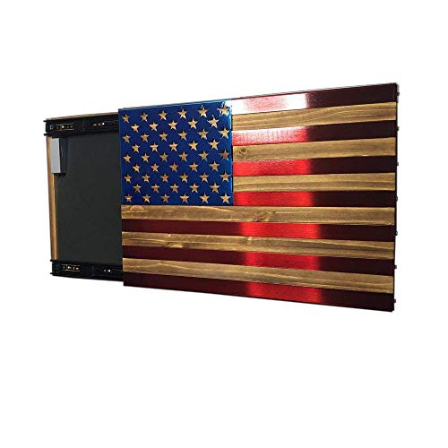 Metal Art of Wisconsin Red and Blue Freedom Cabinet Slider with Invisible RFID Lock and Key Cards (2 Foot Non-Locking)