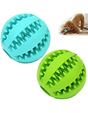 Sunglow Dog Toy Ball, Nontoxic Bite Resistant Toy Ball for Pet Dogs Puppy Cat, Dog Pet Food Treat Feeder Chew Tooth Cleaning Ball Exercise Game IQ Training toy Ball,small dogs toy.