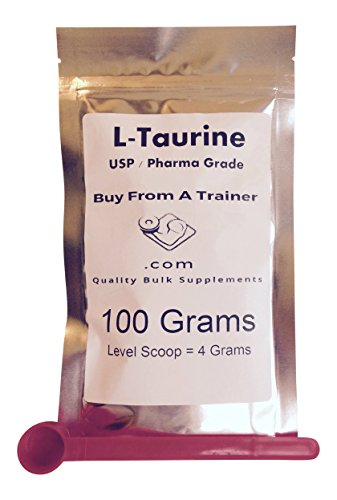 100 g Taurine Pure Powder Amino Acid Grams Energy Stamina Muscle Mood Fat Burn