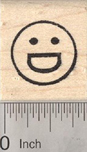 (Grinning Face Emoji Rubber Stamp, with Big