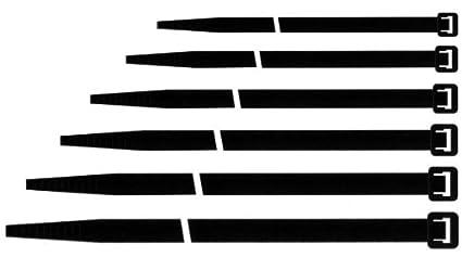 Maurer 13050032 Fascette per cablaggio, in Nylon,  160 x 2.5 mm, 100 pezzi, Nero