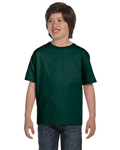 (Gildan DryBlend Youth T-Shirt, Frst Green, Medium)