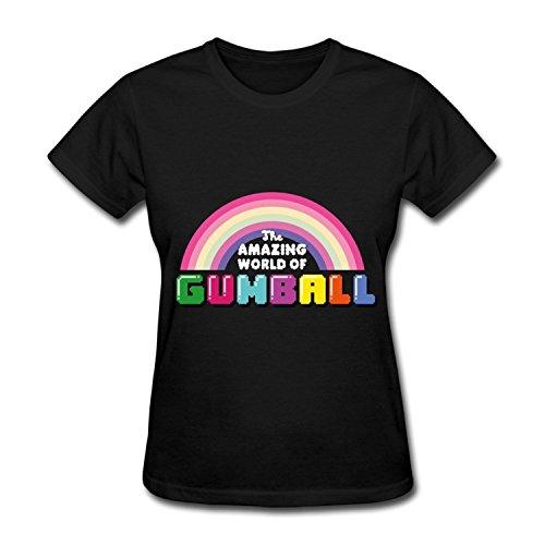 ZEKO Women's Tee The Amazing World Of Gumball 45 Size L Black