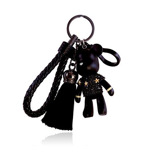 Popobe Leather Crystal Decoration Keychain