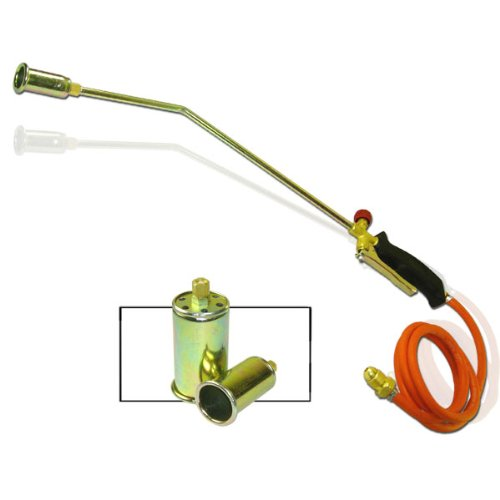 """Propane 'Turbo Torch' with 3 Nozzles and Hose - 60"""" Hose"""