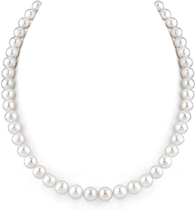 """Natural 8-9mm White Freshwater Pearl With Jade Choker Necklace Jewelry Gift 16/"""""""