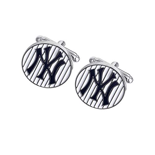 Promotioneer Mens Baseball The Team Logo Symbol Series Cufflinks with Gift Box