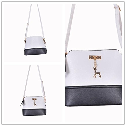 Medium Lightweight Tassel with Deer Crossbody with Small Pendant White Clearance CieKen Bag qAp7B