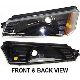CHEVY AVALANCHE 02-06 PARK LAMP LEFT SIDE, Lens & Body Cladding