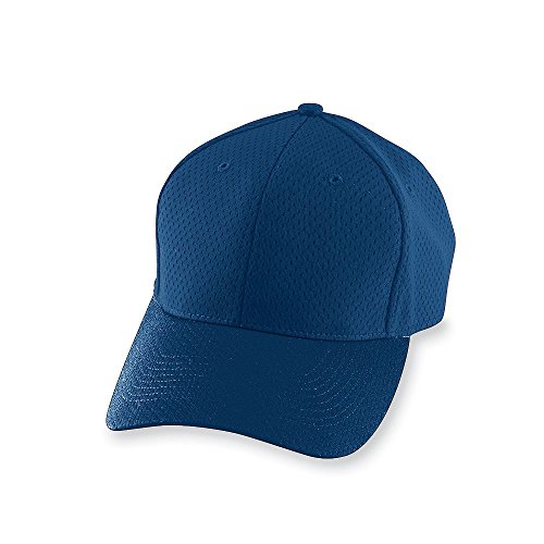 Augusta Sportswear Adult Athletic Mesh Cap OS Navy Athletic Jersey Mesh Cap