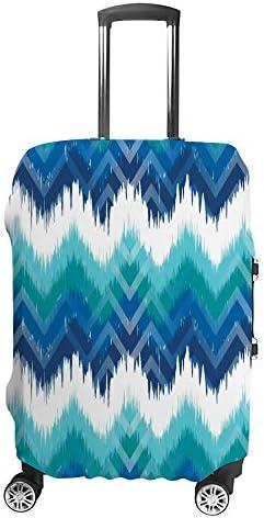 スーツケースカバー カラフル 山かじりの飾り 伸縮素材 キャリーバッグ お荷物カバ 保護 傷や汚れから守る ジッパー 水洗える 旅行 出張 S/M/L/XLサイズ