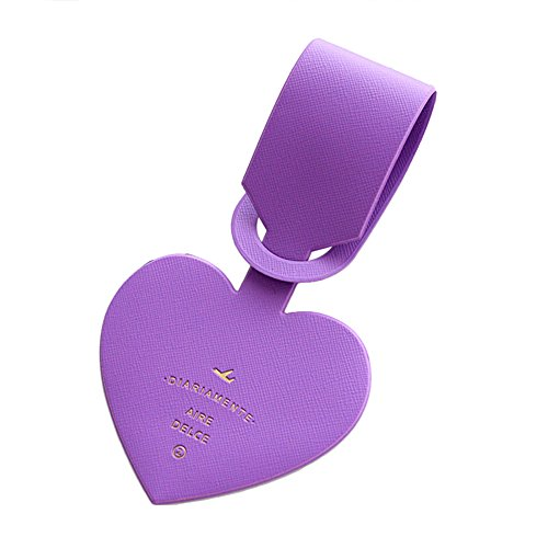 Infgreate Make Your Trip More Exciting Simple Heart-shaped Luggage Tags PVC Passport Label Straps Travel Accessories