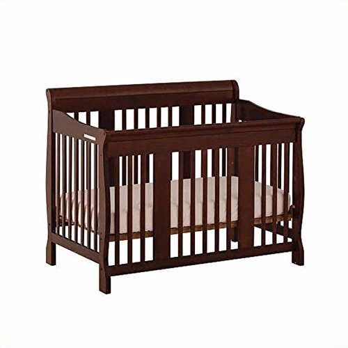 (Storkcraft Tuscany 4-in-1 Convertible Crib, Espresso Easily Converts to Toddler Bed, Day Bed or Full Bed, 3 Position Adjustable Height Mattress )