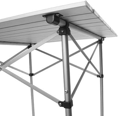 MIADOMODO - Mesa de Aluminio Plegable Aprox. 70 x 70 x 70 cm ...