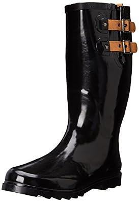 Amazon.com | Chooka Women's Waterproof Solid Tall Rain Boot | Mid-Calf