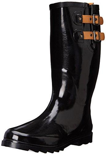 Chooka Kvinna Lång Regn Boot Svart / Glänsande