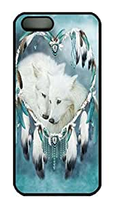 Covers Wolf Heart Custom PC Hard Case Cover for iPhone 5/5S Black