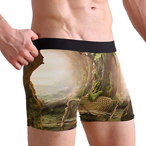 (My Little Nest Deep Forest Seat Men's Boxer Brief Short Leg Underwear M)