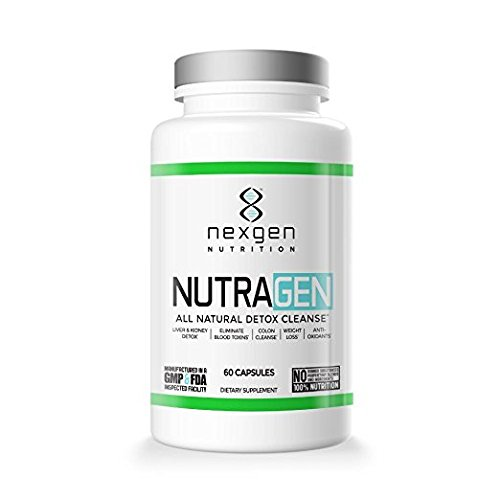 Nutragen All Natural Detox Cleanse Weight Loss Pills Vegan Safe Gluten Free Supplement