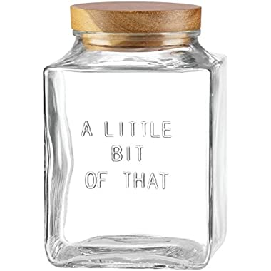 kate spade new york All in Good Taste  Little Bit of That  Glass Canister - White