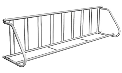 Kirby Built Products Galvanized PLUS-Coated Steel Traditional Bike Rack -Single-Sided - Fits 9 Bikes -