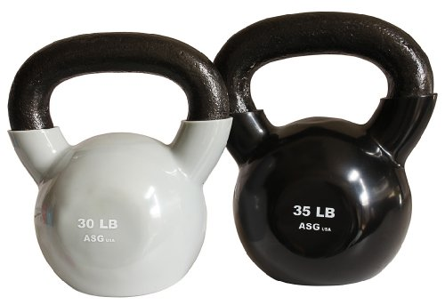 Ader Vinyl Kettlebell Set- 30, 35 Lb by Ader Sporting Goods