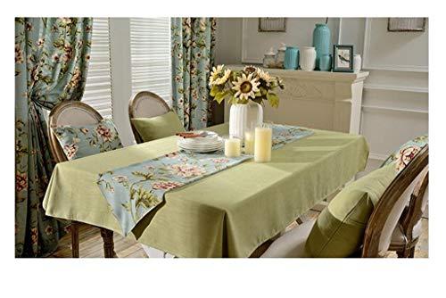 vert 130190cm YHEGV Nappe de Table en Lin Solide Simple Nappe de Table en Tissu Nappe de Table (Couleur  Vert, Taille  130  190cm)