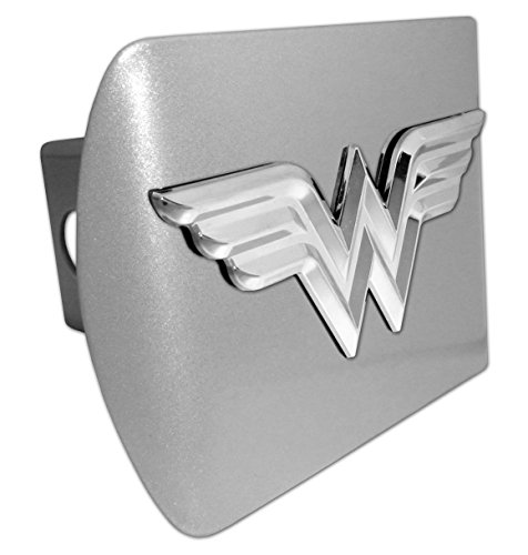 Wonder Woman (3D) ALL METAL Brushed Silver Hitch (Womens Hitch)