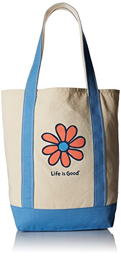 Life is Good A Carry On Canva Daisy Outdoor Backpacks, Powder Blue, One Size by Life is Good