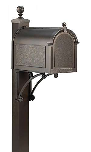 Whitehall French Bronze Deluxe Mailbox, Post, and Brackets by BestNest