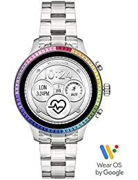 Women's Runway Stainless Steel Touch-Screen Smartwatch with Plastic Strap, Clear, 18 (Model: MKT5065)