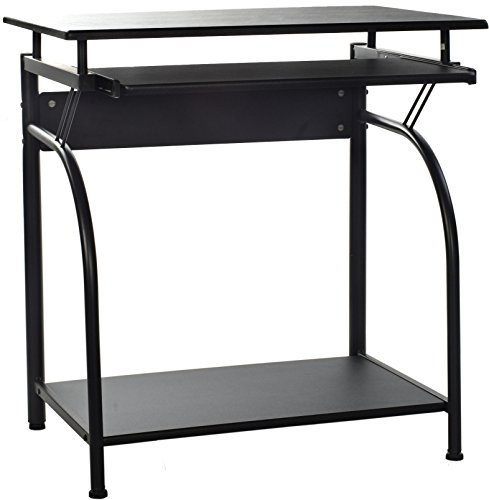 OneSpace 50-1001 Stanton Computer Desk with Pullout Keyboard Tray (Small Office Desk)