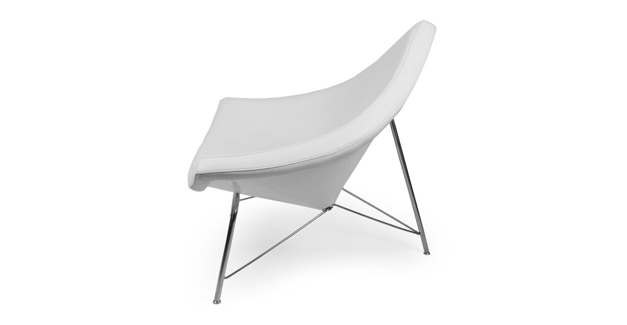 Amazon.com: Kardiel Coconut Chair, Pure White Standard Genuine Leather: Kitchen & Dining