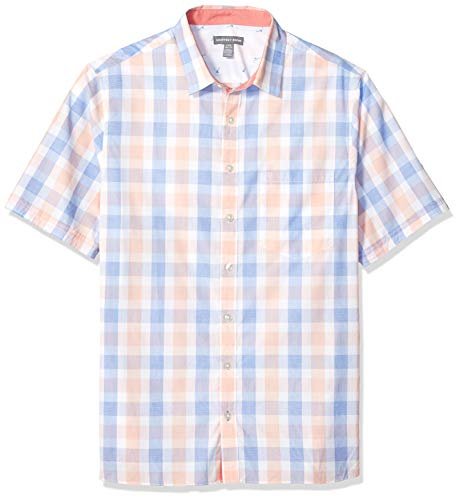 Geoffrey Beene Men's Big and Tall Easy Care Short Sleeve Button Down Shirt, crisp Blue, 3X-Large ()