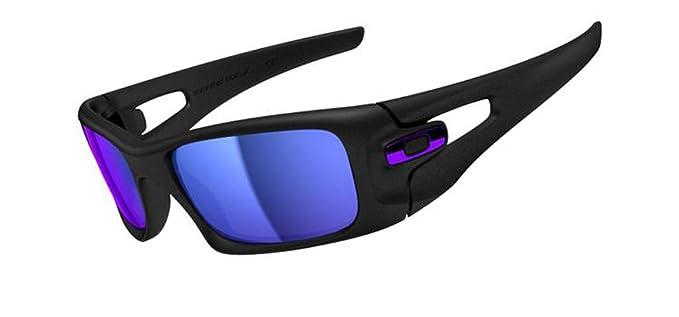69b46dfdf5248 Oakley Mens Crankcase OO9165-05 Iridium Square Sunglasses,Matte Black  Frame Violet Iridium