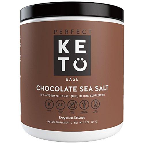 Flawless Keto Base Exogenous Ketone Supplement - Beta-Hydroxybutyrate (BHB) Salts Developed to Burn Fat, Increase Energy and Kickstart Ketosis.(211g) (Chocolate Sea Spice)
