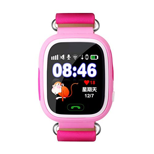 1.22 Touch Screen Q70 Q90 WiFi/GPRS/LBS Positioning Kids Smart Watch English Version