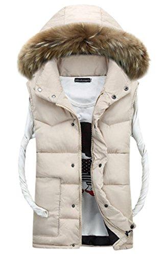 Homme Garçon Gilet Femme Hiver Blouson Sans Chaud Doudoune Beige Jacket Manteaux Vestes Manches Manteau 1Urpw1q