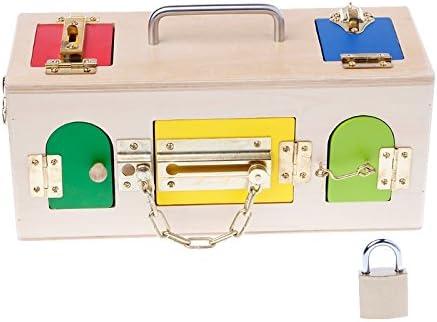 Lamdoo Montessori - Caja de cerradura de colores educativa, preescolar, para niños, juguetes: Amazon.es: Hogar