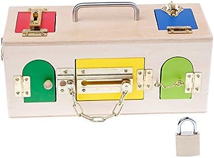 Kofun Montessori colorida caja Lock Educación Preescolar formación ...