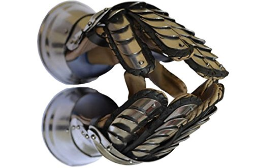 Medieval Metal Gauntlets with Leather (Medieval Gauntlets)