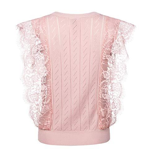 CESIUM レディース ニットベスト 春夏 ビジネス タイト ラウンドネック 袖なし ベスト ブラック ホワイト ピンク