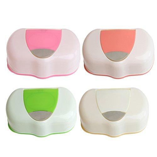 DAYNECETY caja de pañuelos para bebé caja de pañuelos de viaje toallitas caja de niños cambiador dispensador hogar uso caja de almacenamiento amarillo ...