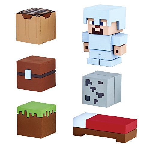 Mine-Keshi Minecraft Starter Survival Pack Featuring Steve with Iron Armor for $<!--$14.99-->